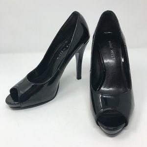 Nine West Patent Peep Toe Pump Size 6 NWOT